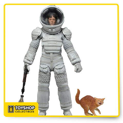 "Series 4: Alien action figure!  Ripley in Nostromo Spacesuit comes with removable helmet, harpoon gun. Each fully articulated figure stands approximately 7"" tall and comes in special 35th Anniversary packaging"