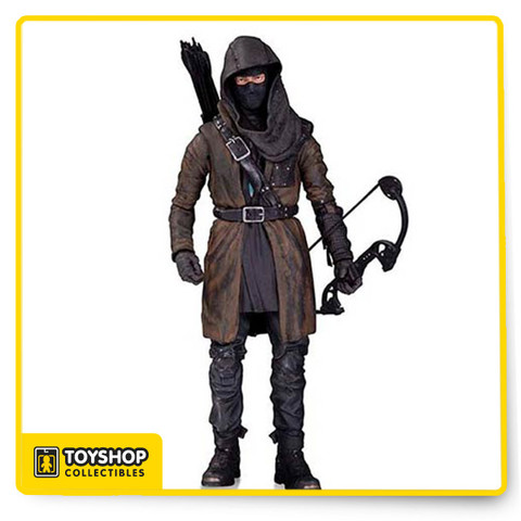 Arrow's nemesis, The Dark Archer, is perfectly captured in this amazing action figure based on his appearance in the smash-hit CW series, Arrow. The Dark Archer is shrouded in mystery as he is completely hidden under his mask, hood, and long brown coat. The Dark Archer stands 6 3/4-inches tall in blister card packaging. Ages 14 and up.