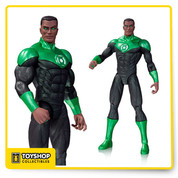 From the pages of New 52 comes this John Stewart as Green Lantern! John Stewart stands about 6-inches tall and features him with his power ring and green eyes. Figure comes in blister card packaging.