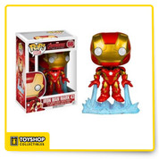 From Marvel's Avengers 2: Age of Ultron - Iron Man The Avengers Age of Ultron Iron Man Mark Pop! Vinyl Bobble Head Figure measures approximately 3 3/4-inches tall. Collect the entire Avenger's: Age of Ultron Pop! vinyl line today ! Ages 3 and up.