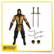 Scorpion, the hell-spawned specter, inexorably seeking vengeance against those responsible for the destruction of his clan and the death of his own family, is one of the game's most popular characters. To ensure a game accurate likeness, correct to the finest detail, Mezco's award-winning design team has digitally sculpted the figures using the digital files from the game developers themselves.