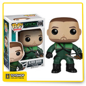 As seen in the hit series Arrow, billionaire Oliver Queen (aka Green Arrow) was stranded on an island for 5 years, where he had to fight to survive. Now that crime-fighting hero is a stylized 3 3/4-inch tall Arrow Oliver Queen Pop! Vinyl Figure. You don't want to hear Ollie say you've failed this city, so bring him home today! Ages 14 and up.