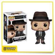 Before Bruce Wayne became the Batman, cleaning up the crime-ridden streets of Gotham was left to Detectives James Gordon and his partner, Harvey Bullock. Find justice amid Gotham's corruption with Pop! Vinyl Figures based on Fox's hit show. The Gotham Harvey Bullock Pop! Vinyl Figure measures approximately 3 3/4-inches tall and captures the detective wearing his signature fedora and leather coat.