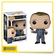 Before Bruce Wayne became the Batman, cleaning up the crime-ridden streets of Gotham was left to Detectives Jim Gordon and his partner, Harvey Bullock. Find justice amid Gotham's corruption with Pop! Vinyl Figures based on Fox's hit show. The Gotham James Gordon Pop! Vinyl Figure measures approximately 3 3/4-inches tall and captures the idealistic detective holding his gun and badge.