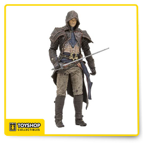 As the lead assassin in Assassin's Creed Unity, Arno Dorian always needs to be prepared for every combat situation! Equipped with an outfit designed by artist Todd McFarlane, Arno is ready for anything the French Revolution can throw at him! The Assassin's Creed Series 4 Arno Dorian Action Figure comes equipped with an ornate one-handed sword, only wielded by the most dedicated Assassins and a pistol! Measures approximately 6-inches tall. Ages 8 and up.