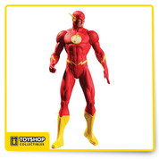 DC Comics Essentials, New 52The Flash action figure is the perfect addition to your New 52 collection. The Scarlet Speedster is constantly running, possesses super speed to generate energy, battle evil and protect his friends, this toy is created with multiple points of articulation that can provide hours of lifelike imaginary play.so we're pretty sure he'd make the perfect addition to your display.