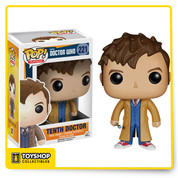 The Doctor! You'll want to collect all the Pop figures from Doctor Who. Time's a wastin', so start with this cool 3 3/4-inch tall Doctor Who 10th Doctor Pop! Vinyl Figure based on actor David Tennant! Other figures sold separately. Ages 14 and up.