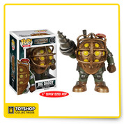From the popular BioShock video game! If you're really quiet you may hear the huanting roar of this Big Daddy Pop! Vinyl figure. The BioShock Big Daddy Pop! Vinyl Figure measures 6-inches tall and comes packaged in a window display box. Ages 17 and up.