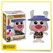 Series 2 of Funko's Hanna-Barbera Pops are here. This Hanna-Barbera Series 2 Ricochet Rabbit Pop! Vinyl Figure features the rabbit sheriff of Hoop N' Holler! This figure stands 3 3/4-inches tall and comes packaged in a window display box.