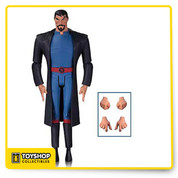 From the Justice League: Gods and Monsters animated movie and the designs of legendary animator Bruce Timm comes this Superman action figure! Superman stands 6-inches tall and features multiple points of articulation, multiple accessories, and a display base. Figure measures 6-inches tall. Ages 14 and up.