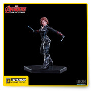 New Iron Studios Marvel Avengers Age of Ultron Black Widow Art Scale. This Limited Edition Polystone Statue is designed in 1/10 Scale. It stands approximately 16 cm / 6.3 inches tall Including the Base.