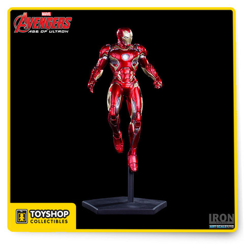 Iron Man / Tony Stark played by actor Robert Downey Jr. in the movie Avengers: Age of Ultron Manufacturer by Iron Studios Scale: 1/10 hand painted in Polystone. Limited Edition