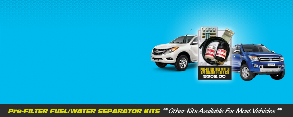 Western Filters Fuel Manager Separator Kit - Mazda BT50 / Ford Ranger