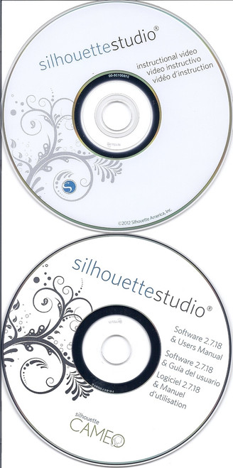 Silhouette Studio software cd & instruction video disc