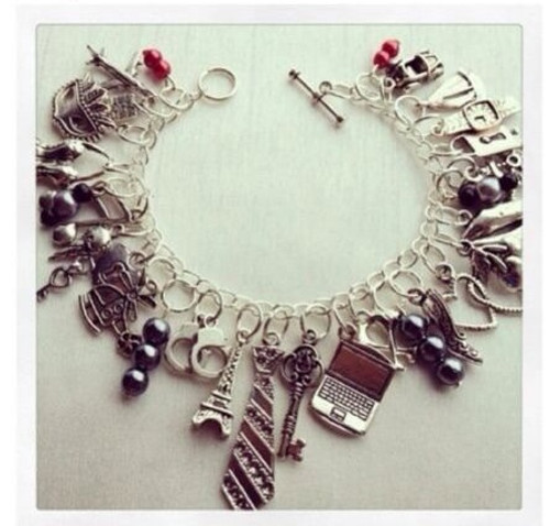 kit charming 50 shades of grey Glam Bracelet