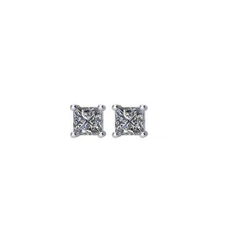 1/4 ct tw Princess Diamond Stud Earrings