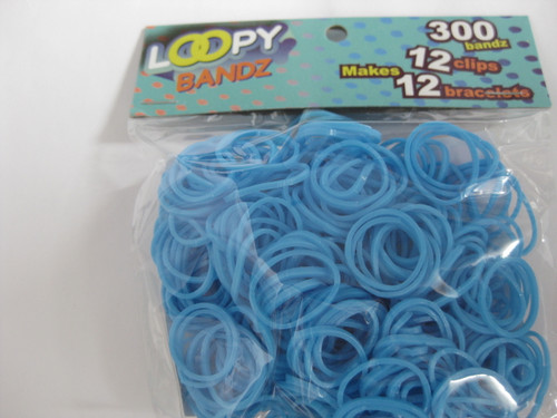 Bag of light sky blue Loopy Bandz