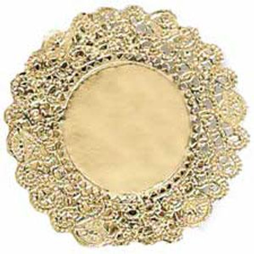 """Gold doilies - 12"""" round"""