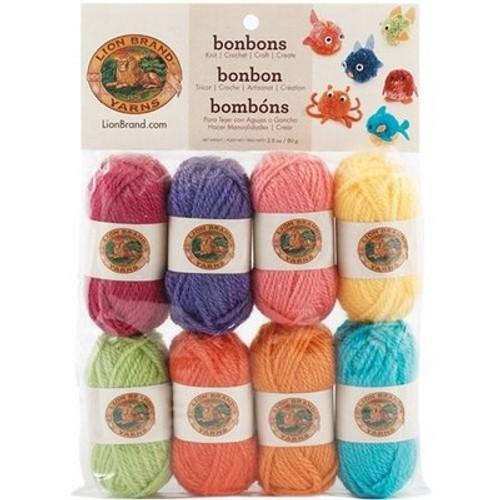 Lion Brand Yarn Bonbons Yarn, Brights