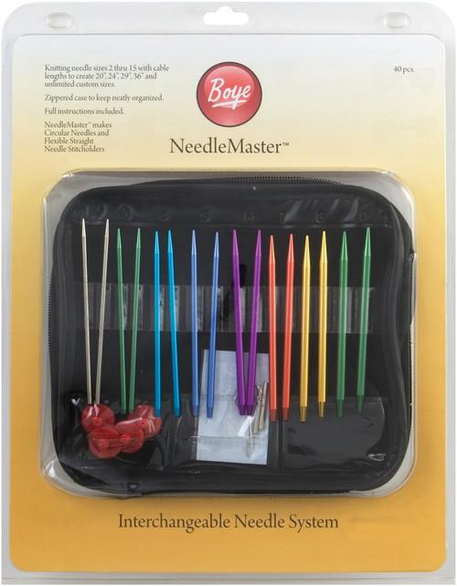 Needlemaster 40-Piece Interchangeable Aluminum Knitting Set