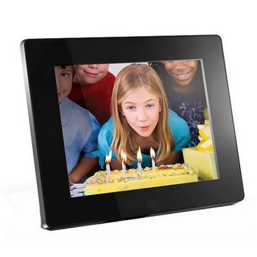 8-inch Hi-Res Digital Photo Frame With 512MB Built in Memory (Black)
