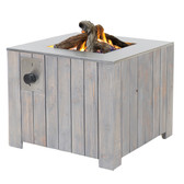 Cosicube 70 Outdoor Fire Pit Gas Heater Grey Wash