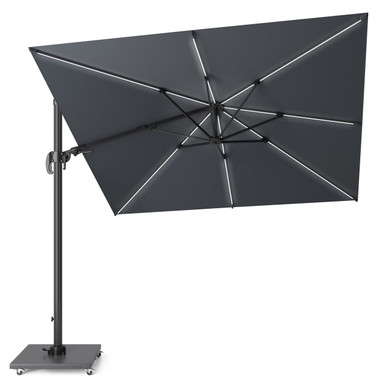 Glow LED Cantilever Parasol Square 3x3m Grey (18-111-GY) from Pacific Lifestyle