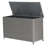 Barbados Grey Rattan Cushion Storage Box Small (18-137-SG)