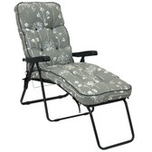 Deluxe Garden Lounger Chair Renaissance Grey (GL1536) from Glendale