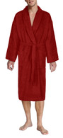 Burgundy bathrobe