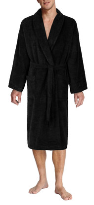 Black bathrobe