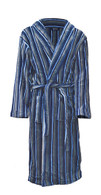 Striped fleece bathrobe