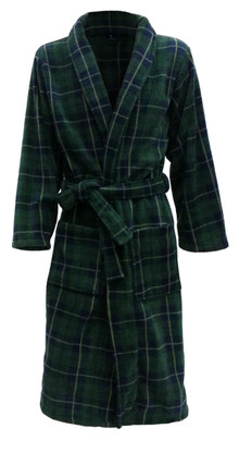 green tartan bathrobe