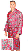 Red & blue paisley silk dressing gown