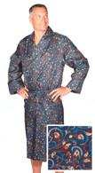 Men's silk dressing gown