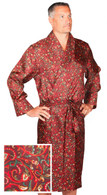Men's silk dressing gown