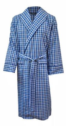Blue check lightweight gown
