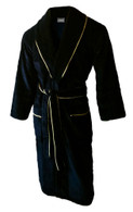 Black velour / towelling bathrobe bathrobe by John Christian