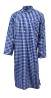 Navy and blue check nightshirt
