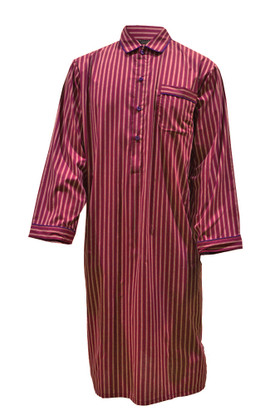 Dark Red Stripe Nightshirt