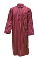 Dark Red Stripe Nightshirt