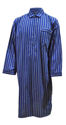 Blue striped nightshirt
