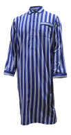 Blue & White Satin Stripe Nightshirt