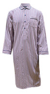 White with Navy & Red Stripe Nightshirt