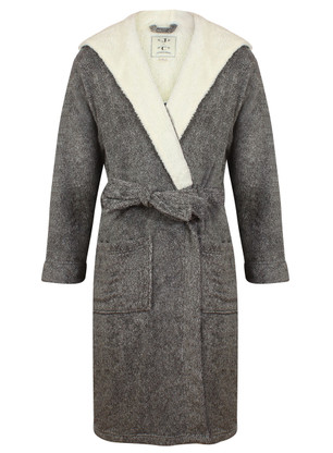 Grey Marl John Christian Dressing Gown