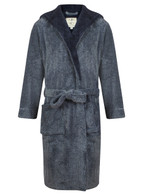 Navy marl bathrobe by John Christian
