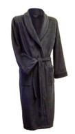 Navy blue fleece bathrobe by Lloyd Attree & Smith