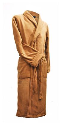 Sandstone fleece bathrobe by Lloyd Attree & Smith