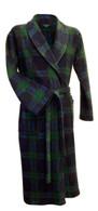 Tartan fleece dressing gown by Lloyd Attree & Smith