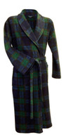 Tartan fleece dressing gown by Lloyd Attree & Smith